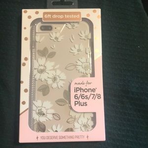 iPhone 6/6s/7/8 Plus clear with daisies